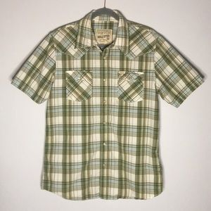 Hollister Western Style Snap Button up Size Large